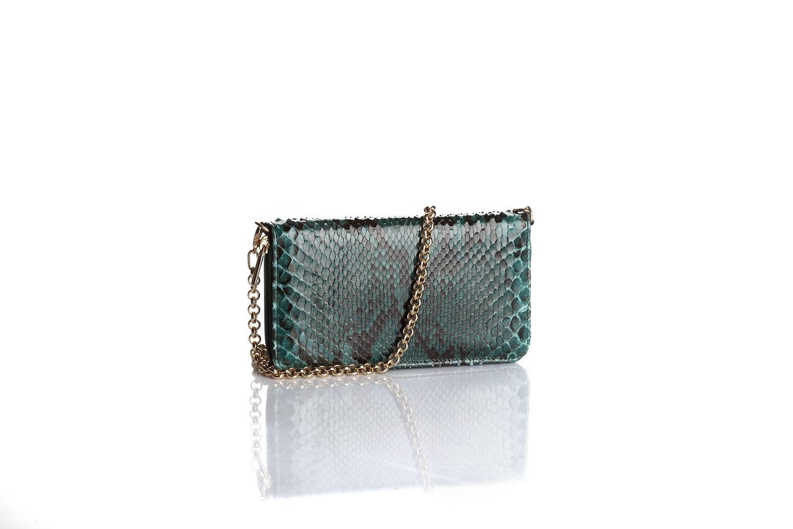 borsetta handbag green cocodrille